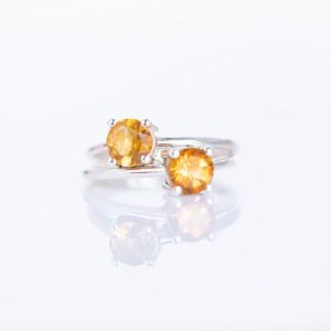 Shop Citrine Engagement Rings! Citrine Ring, Sterling Silver Ring, Natural Stone Ring, Natural Citrine Ring, November Birthstone Ring, Dainty Citrine Ring Size 5 6 7 8 | Natural genuine Citrine rings, simple unique handcrafted gemstone rings. #rings #jewelry #shopping #gift #handmade #fashion #style #affiliate #ad