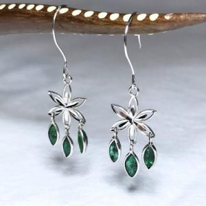 Shop Emerald Earrings! 14K White Gold Natural Emerald (1.08 ct) Earrings, Appraised  1,200 CAD | Natural genuine Emerald earrings. Buy crystal jewelry, handmade handcrafted artisan jewelry for women.  Unique handmade gift ideas. #jewelry #beadedearrings #beadedjewelry #gift #shopping #handmadejewelry #fashion #style #product #earrings #affiliate #ad