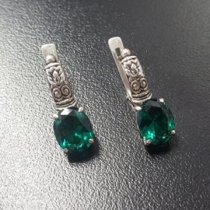 Shop Emerald Earrings! Emerald Earrings, Created Emerald Earrings, Tribal Earrings, Green Vintage Earrings, Vintage Earrings, Silver Earrings, Green Long Earrings | Natural genuine Emerald earrings. Buy crystal jewelry, handmade handcrafted artisan jewelry for women.  Unique handmade gift ideas. #jewelry #beadedearrings #beadedjewelry #gift #shopping #handmadejewelry #fashion #style #product #earrings #affiliate #ad