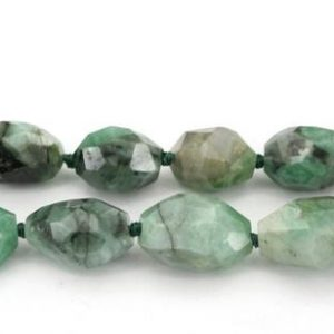 Shop Emerald Faceted Beads! Emerald 9-13mm faceted beads (ETB01333) Rare stone/Unique jewelry/Vintage jewelry/Gemstone necklace | Natural genuine faceted Emerald beads for beading and jewelry making.  #jewelry #beads #beadedjewelry #diyjewelry #jewelrymaking #beadstore #beading #affiliate #ad