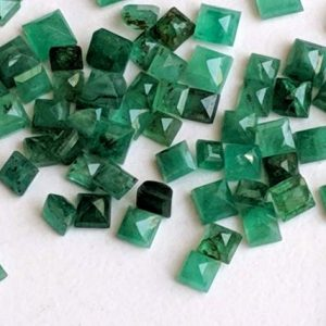 Shop Emerald Bead Shapes! 3-4mm Emerald Princess Cut Stones, Natural Emerald Princess Cut Gemstones, Loose Square Emerald For Jewelry, 5 Pieces Green Gemstone- APH36 | Natural genuine other-shape Emerald beads for beading and jewelry making.  #jewelry #beads #beadedjewelry #diyjewelry #jewelrymaking #beadstore #beading #affiliate #ad
