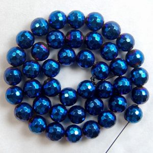 Shop Hematite Faceted Beads! Faceted Blue Hematite Jewelry Beads, 3mm 4mm 6mm 8mm 10mm Round Gemstone beads, Blue Hematite Spacer beads, faceted stone beads | Natural genuine faceted Hematite beads for beading and jewelry making.  #jewelry #beads #beadedjewelry #diyjewelry #jewelrymaking #beadstore #beading #affiliate #ad