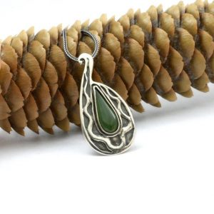 Shop Jade Pendants! Jade silver necklace sterling silver pendant Jade gemstone wavy pattern, teardrop pendant green jewelry paisley vintage style | Natural genuine Jade pendants. Buy crystal jewelry, handmade handcrafted artisan jewelry for women.  Unique handmade gift ideas. #jewelry #beadedpendants #beadedjewelry #gift #shopping #handmadejewelry #fashion #style #product #pendants #affiliate #ad