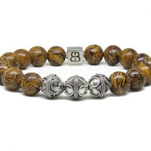 Shop Jasper Bracelets! Elephant Skin Jasper Bracelet, Men's Beaded Bracelet, Gemstone Bracelet, Men's Silver Bracelet,  Luxury Bracelet, Men's Quality Bracelet | Natural genuine Jasper bracelets. Buy crystal jewelry, handmade handcrafted artisan jewelry for women.  Unique handmade gift ideas. #jewelry #beadedbracelets #beadedjewelry #gift #shopping #handmadejewelry #fashion #style #product #bracelets #affiliate #ad