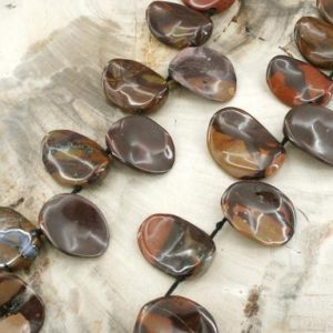 Shop Jasper Chip & Nugget Beads! Autumn Jasper Chips Beads 12-15mm (etb01360) Unique Jewelry / vintage Jewelry / gemstone Necklace | Natural genuine chip Jasper beads for beading and jewelry making.  #jewelry #beads #beadedjewelry #diyjewelry #jewelrymaking #beadstore #beading #affiliate #ad