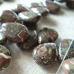 Jasper Beads 15 x 12mm Natural Green, Rust and Cream Camouflage Jasper Teardrops – 8 Pieces | Natural genuine other-shape Gemstone beads for beading and jewelry making.  #jewelry #beads #beadedjewelry #diyjewelry #jewelrymaking #beadstore #beading #affiliate #ad