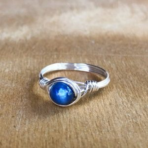 Shop Kyanite Rings! Kyanite Ring – Blue Boho Ring – Silver Kyanite Ring – Sterling Kyanite Ring – Wrapped Kyanite Ring – Gold Kyanite Ring – Meditation Ring | Natural genuine Kyanite rings, simple unique handcrafted gemstone rings. #rings #jewelry #shopping #gift #handmade #fashion #style #affiliate #ad