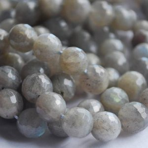 "Shop Labradorite Faceted Beads! High Quality Grade A Natural Labradorite Semi-precious Gemstone FACETED Round Beads – 6mm, 8mm, 10mm sizes – Approx 15"" strand 