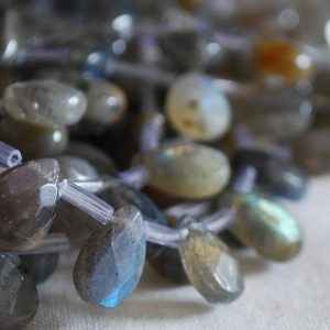 Shop Labradorite Bead Shapes! 10 High Quality Grade A Natural Labradorite FACETED Semi Precious Gemstone Teardrop / Pendant Beads – 12mm, 14mm, 18mm sizes | Natural genuine other-shape Labradorite beads for beading and jewelry making.  #jewelry #beads #beadedjewelry #diyjewelry #jewelrymaking #beadstore #beading #affiliate #ad