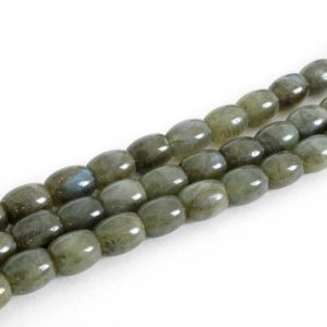 Shop Labradorite Bead Shapes! 10x8mm Labradorite Beads, Barrel Shaped, Labradorite Barrel Beads, Genuine Gemstone Beads, Half Strand, 8 Inch Strand Labradorite, Lab204 | Natural genuine other-shape Labradorite beads for beading and jewelry making.  #jewelry #beads #beadedjewelry #diyjewelry #jewelrymaking #beadstore #beading #affiliate #ad