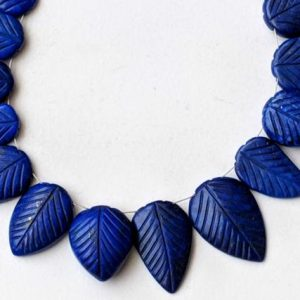 13-18mm Lapis Lazuli Hand Carved Leaf Pear Beads, 9 Pcs Natural Lapis Lazuli Fancy Pear Beads, Lapis Hand Carved Heart Beads – PDG126 | Natural genuine other-shape Gemstone beads for beading and jewelry making.  #jewelry #beads #beadedjewelry #diyjewelry #jewelrymaking #beadstore #beading #affiliate #ad