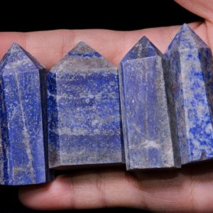 Shop Lapis Lazuli Points & Wands! 4pcs Natural Lapis Lazuli Crystal Tower / lapis Lazuli Point / energy Stone / decor / crystal Grid / reiki / chakra / special Gift / blue Stone / blue Crystal | Natural genuine stones & crystals in various shapes & sizes. Buy raw cut, tumbled, or polished gemstones for making jewelry or crystal healing energy vibration raising reiki stones. #crystals #gemstones #crystalhealing #crystalsandgemstones #energyhealing #affiliate #ad