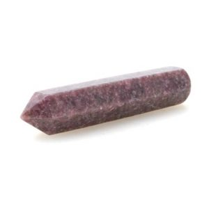 Large Lepidolite With Mica Crystal Wand, Cut And Polished Poinyed Massage Wand, 3.9'' | Natural genuine stones & crystals in various shapes & sizes. Buy raw cut, tumbled, or polished gemstones for making jewelry or crystal healing energy vibration raising reiki stones. #crystals #gemstones #crystalhealing #crystalsandgemstones #energyhealing #affiliate #ad