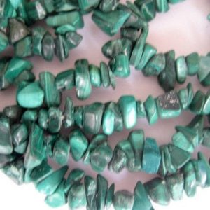 5mm To 7mm Approx Malachite Gemstone Beads, Gemstone Chips, Malachite Chips, 32 Inches, Chip Size, Green Chips (1Strand To 5Strands Options) | Natural genuine chip Malachite beads for beading and jewelry making.  #jewelry #beads #beadedjewelry #diyjewelry #jewelrymaking #beadstore #beading #affiliate #ad