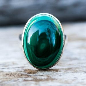 Shop Malachite Rings! Malachite Ring Size 8 – Green Malachite Ring – Malachite Jewelry – Malachite Ring Size 8 – Unixsex Malachite Ring – Gorgeous Malachite Ring | Natural genuine Malachite rings, simple unique handcrafted gemstone rings. #rings #jewelry #shopping #gift #handmade #fashion #style #affiliate #ad