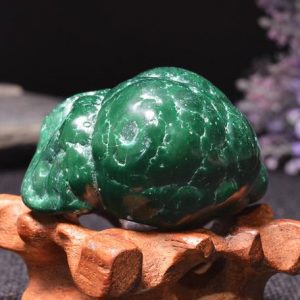 Shop Tumbled Malachite Crystals & Pocket Stones! Best Large Polished Green Malachite Stone -Tumbled Stones For Decoration/Pocket Stones/Healing Crystals/Display/Gift-50*40*28mm-114g#401 | Natural genuine stones & crystals in various shapes & sizes. Buy raw cut, tumbled, or polished gemstones for making jewelry or crystal healing energy vibration raising reiki stones. #crystals #gemstones #crystalhealing #crystalsandgemstones #energyhealing #affiliate #ad