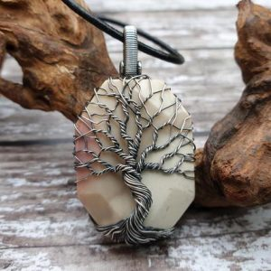 Shop Mookaite Pendants! Mookaite Jasper Tree Of Life Pendant, Wire Wrapped Necklace, Norse Jewellery, Yggdrasil Necklace | Natural genuine Mookaite pendants. Buy crystal jewelry, handmade handcrafted artisan jewelry for women.  Unique handmade gift ideas. #jewelry #beadedpendants #beadedjewelry #gift #shopping #handmadejewelry #fashion #style #product #pendants #affiliate #ad