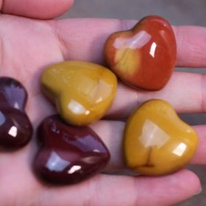 Shop Mookaite Stones & Crystals! Mookaite Jasper Shaped Heart K17 | Natural genuine stones & crystals in various shapes & sizes. Buy raw cut, tumbled, or polished gemstones for making jewelry or crystal healing energy vibration raising reiki stones. #crystals #gemstones #crystalhealing #crystalsandgemstones #energyhealing #affiliate #ad