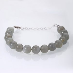 Shop Moonstone Bracelets! Grey Moonstone Bracelet Gray Moonstone Jewelry June Birthstone Gift For Wife Christmas Gift Christmas Sale Gift For Girlfriend Birthday Gift | Natural genuine Moonstone bracelets. Buy crystal jewelry, handmade handcrafted artisan jewelry for women.  Unique handmade gift ideas. #jewelry #beadedbracelets #beadedjewelry #gift #shopping #handmadejewelry #fashion #style #product #bracelets #affiliate #ad