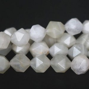 Shop Moonstone Chip & Nugget Beads! Natural White Moonstone Faceted Nugget Beads,6mm/8mm/10mm/12mm Faceted Moonstone Nugget Beads,15 inches one starand | Natural genuine chip Moonstone beads for beading and jewelry making.  #jewelry #beads #beadedjewelry #diyjewelry #jewelrymaking #beadstore #beading #affiliate #ad