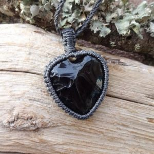 Shop Obsidian Necklaces! Heart Black Obsidian Necklace / protection Amulet For Best Friend Healing Stones | Natural genuine Obsidian necklaces. Buy crystal jewelry, handmade handcrafted artisan jewelry for women.  Unique handmade gift ideas. #jewelry #beadednecklaces #beadedjewelry #gift #shopping #handmadejewelry #fashion #style #product #necklaces #affiliate #ad