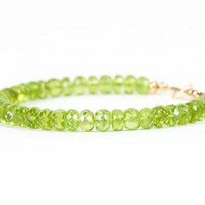 Shop Peridot Bracelets! Peridot Bracelet, Green Gemstone Delicate Bracelet, Genuine Peridot Handmade Jewelry | Natural genuine Peridot bracelets. Buy crystal jewelry, handmade handcrafted artisan jewelry for women.  Unique handmade gift ideas. #jewelry #beadedbracelets #beadedjewelry #gift #shopping #handmadejewelry #fashion #style #product #bracelets #affiliate #ad