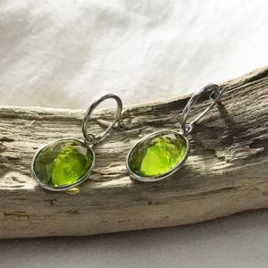 Shop Peridot Earrings! 14k White Gold Natural Peridot (14.30 ct) Earrings, Appraised 3,097 USD | Natural genuine Peridot earrings. Buy crystal jewelry, handmade handcrafted artisan jewelry for women.  Unique handmade gift ideas. #jewelry #beadedearrings #beadedjewelry #gift #shopping #handmadejewelry #fashion #style #product #earrings #affiliate #ad