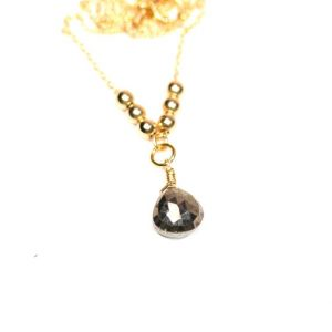 Shop Pyrite Necklaces! Pyrite Necklace, Elegant Necklace, Gold Teardrop Gemstone, Y Necklace, Healing Stone Jewelry, Lariat Necklace, Layering Necklace | Natural genuine Pyrite necklaces. Buy crystal jewelry, handmade handcrafted artisan jewelry for women.  Unique handmade gift ideas. #jewelry #beadednecklaces #beadedjewelry #gift #shopping #handmadejewelry #fashion #style #product #necklaces #affiliate #ad