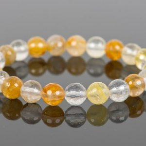 Shop Quartz Crystal Bracelets! Yellow Crystal Quartz Bracelet, Natural Gemstone Bracelet, Handmade Gemstone Jewelry | Natural genuine Quartz bracelets. Buy crystal jewelry, handmade handcrafted artisan jewelry for women.  Unique handmade gift ideas. #jewelry #beadedbracelets #beadedjewelry #gift #shopping #handmadejewelry #fashion #style #product #bracelets #affiliate #ad
