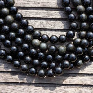 Shop Rainbow Obsidian Beads! Rainbow Obsidian 9-10mm round beads  (ETB00144) | Natural genuine round Rainbow Obsidian beads for beading and jewelry making.  #jewelry #beads #beadedjewelry #diyjewelry #jewelrymaking #beadstore #beading #affiliate #ad