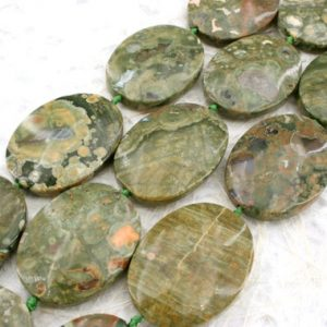 Shop Rainforest Jasper Beads! Rainforest Rhyolite freeform beads (ETB00361) Unique jewelry/Vintage jewelry/Gemstone necklace | Natural genuine other-shape Rainforest Jasper beads for beading and jewelry making.  #jewelry #beads #beadedjewelry #diyjewelry #jewelrymaking #beadstore #beading #affiliate #ad
