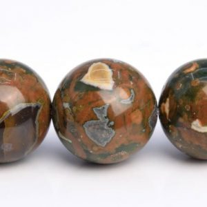 "Shop Rainforest Jasper Beads! 15MM Rainforest Rhyolite Beads Grade AAA Genuine Natural Gemstone Half Strand Round Loose Beads 7.5"" BULK LOT 1,3,5,10 and 50 (103576h-956) 