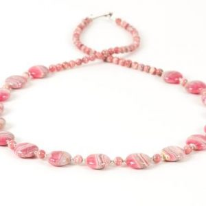 Shop Rhodochrosite Necklaces! Rhodochrosite Necklace, Natural Rhodochrosite Long Necklace, Special Statement Necklace, Handmade Gemstone Jewelry | Natural genuine Rhodochrosite necklaces. Buy crystal jewelry, handmade handcrafted artisan jewelry for women.  Unique handmade gift ideas. #jewelry #beadednecklaces #beadedjewelry #gift #shopping #handmadejewelry #fashion #style #product #necklaces #affiliate #ad