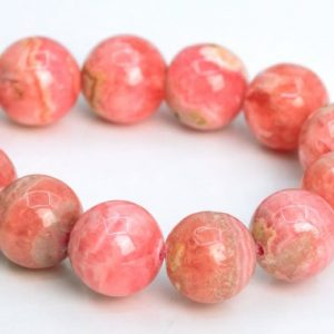 "Shop Rhodochrosite Round Beads! 7MM Rhodochrosite Beads Argentina Grade AA Genuine Natural Gemstone Half Strand Round Loose Beads 7"" Bulk Lot Options (107461h-2384) 