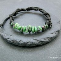 Ruby Zoisite Anyolite Bracelet, Unisex Braided Stacking Wristband, Natural Gift For Him | Natural genuine Gemstone jewelry. Buy crystal jewelry, handmade handcrafted artisan jewelry for women.  Unique handmade gift ideas. #jewelry #beadedjewelry #beadedjewelry #gift #shopping #handmadejewelry #fashion #style #product #jewelry #affiliate #ad