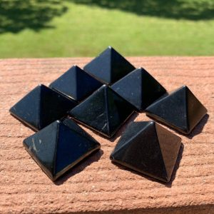 Shop Shungite Shapes! 1 SHUNGITE PYRAMID ~30mm – Natural Crystal – Polished Stone – Healing Crystal – Meditation Stone – Collectible – Display- From Russia 14-20g | Natural genuine stones & crystals in various shapes & sizes. Buy raw cut, tumbled, or polished gemstones for making jewelry or crystal healing energy vibration raising reiki stones. #crystals #gemstones #crystalhealing #crystalsandgemstones #energyhealing #affiliate #ad