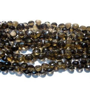 Shop Smoky Quartz Bead Shapes! Smoky Quartz – Faceted Beads, Onion Briolettes – 8x8mm Each – 8 Inch Full Strand – 42 Pieces Approx | Natural genuine other-shape Smoky Quartz beads for beading and jewelry making.  #jewelry #beads #beadedjewelry #diyjewelry #jewelrymaking #beadstore #beading #affiliate #ad
