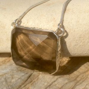 Shop Smoky Quartz Pendants! Smokey Quartz Necklace, Gemstone Silver Necklace, Gift For Her, Brown Stone Pendant Necklace | Natural genuine Smoky Quartz pendants. Buy crystal jewelry, handmade handcrafted artisan jewelry for women.  Unique handmade gift ideas. #jewelry #beadedpendants #beadedjewelry #gift #shopping #handmadejewelry #fashion #style #product #pendants #affiliate #ad