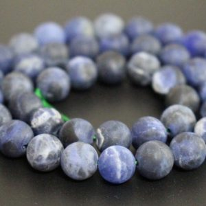 Shop Sodalite Round Beads! Matte Sodalite Smooth And Round Beads, 6mm / 8mm / 10mm / 12mm Gemstone Wholesale Beads Supply, 15 Inches One Starand | Natural genuine round Sodalite beads for beading and jewelry making.  #jewelry #beads #beadedjewelry #diyjewelry #jewelrymaking #beadstore #beading #affiliate #ad