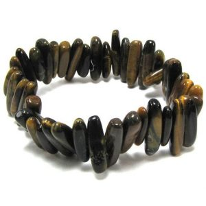 Shop Tiger Eye Bead Shapes! 14mm – 20mm tiger eye stick stretch bracelet 8"