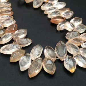 Shop Topaz Bead Shapes! Imperial Topaz Plain Marquise Beads, Golden Champagne Topaz, Topaz Necklace, 6x12mm – 11x19mm Approx., 10 Pcs – Ks184 | Natural genuine other-shape Topaz beads for beading and jewelry making.  #jewelry #beads #beadedjewelry #diyjewelry #jewelrymaking #beadstore #beading #affiliate #ad