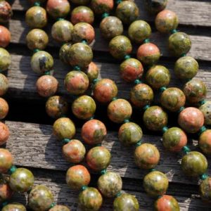 Shop Unakite Round Beads! Natural Unakite 7-8mm Round Beads (etb00154) | Natural genuine round Unakite beads for beading and jewelry making.  #jewelry #beads #beadedjewelry #diyjewelry #jewelrymaking #beadstore #beading #affiliate #ad