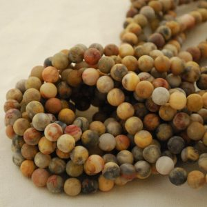 "Shop Crazy Lace Agate Beads! High Quality Grade A Natural Crazy Lace Agate Semi-precious Gemstone FROSTED MATTE Round Beads – 8mm 10mm sizes- Approx 15.5"" strand 