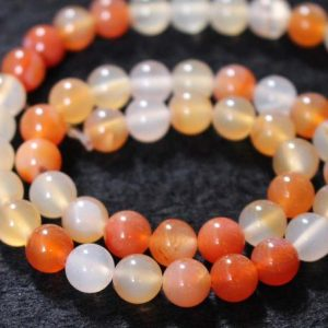 Shop Red Agate Beads! Natural  Red Agate Smooth and Round Stone Beads,6mm/8mm/10mm/12mm agate wholesale bulk Beads supply,15 inches one starand   Natural genuine beads Agate beads for beading and jewelry making.  #jewelry #beads #beadedjewelry #diyjewelry #jewelrymaking #beadstore #beading #affiliate #ad