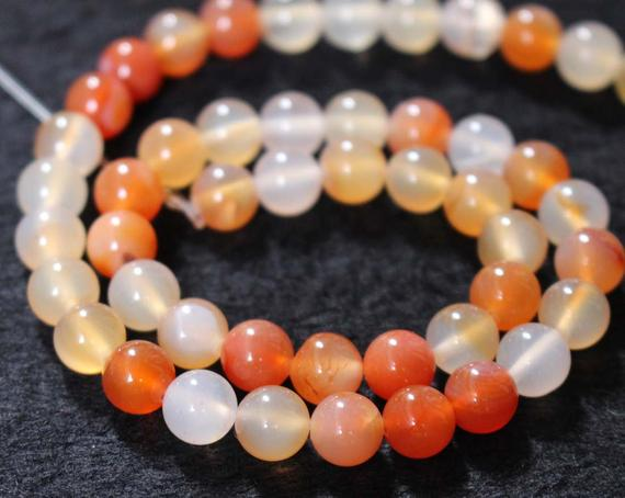Natural  Red Agate Smooth And Round Stone Beads,6mm/8mm/10mm/12mm Agate Wholesale Bulk Beads Supply,15 Inches One Starand