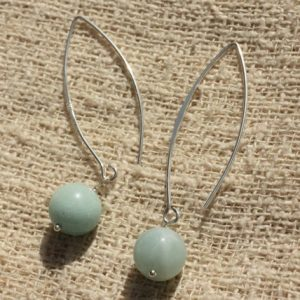 Shop Amazonite Earrings! Earrings 925 Silver – Amazonite 10mm | Natural genuine Amazonite earrings. Buy crystal jewelry, handmade handcrafted artisan jewelry for women.  Unique handmade gift ideas. #jewelry #beadedearrings #beadedjewelry #gift #shopping #handmadejewelry #fashion #style #product #earrings #affiliate #ad