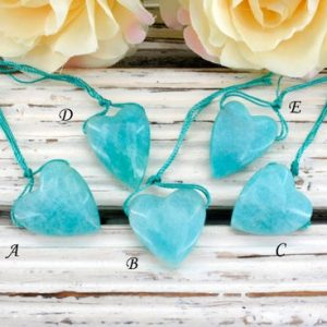 Shop Amazonite Bead Shapes! Amazonite Small Heart Shape Pendants (etp00359) Unique Jewelry / vintage Jewelry / gemstone Pendants | Natural genuine other-shape Amazonite beads for beading and jewelry making.  #jewelry #beads #beadedjewelry #diyjewelry #jewelrymaking #beadstore #beading #affiliate #ad
