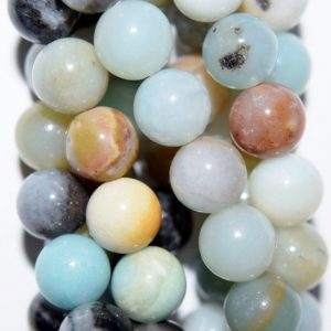 "Shop Amazonite Round Beads! Genuine Amazonite Beads – Round 8 mm Gemstone Beads – Full Strand 15 1/2"", 45 beads, A Quality 