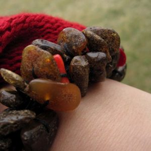 Shop Amber Bracelets! Rough Stone Bracelet Dark Baltic Amber Red Coral Bracelet Earthy Colors Orange Black Summer Fashion Jewelry | Natural genuine Amber bracelets. Buy crystal jewelry, handmade handcrafted artisan jewelry for women.  Unique handmade gift ideas. #jewelry #beadedbracelets #beadedjewelry #gift #shopping #handmadejewelry #fashion #style #product #bracelets #affiliate #ad