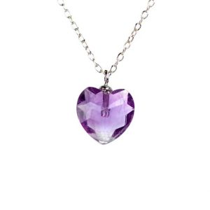 Shop Amethyst Necklaces! Heart necklace – amethyst heart necklace – february birthstone – a faceted amethyst heart on a sterling silver chain | Natural genuine Amethyst necklaces. Buy crystal jewelry, handmade handcrafted artisan jewelry for women.  Unique handmade gift ideas. #jewelry #beadednecklaces #beadedjewelry #gift #shopping #handmadejewelry #fashion #style #product #necklaces #affiliate #ad